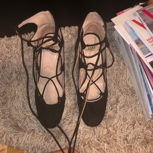 Zara Shoes - Zara Strappy Lace Maryjanes Block Heel